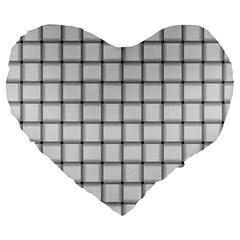 White Weave 19  Premium Heart Shape Cushion by BestCustomGiftsForYou