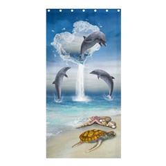 The Heart Of The Dolphins Shower Curtain 36  X 72  (stall) by gatterwe