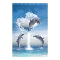 The Heart Of The Dolphins Shower Curtain 48  X 72  (small) by gatterwe