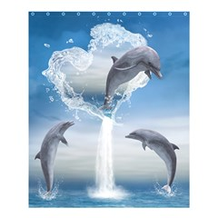 The Heart Of The Dolphins Shower Curtain 60  X 72  (medium) by gatterwe