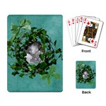 green cards - Playing Cards Single Design