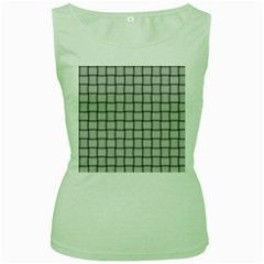 Gray Weave Womens  Tank Top (green) by BestCustomGiftsForYou