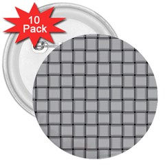 Gray Weave 3  Button (10 Pack) by BestCustomGiftsForYou