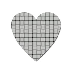 Gray Weave Magnet (heart) by BestCustomGiftsForYou