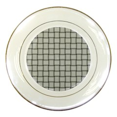 Gray Weave Porcelain Display Plate