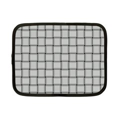 Gray Weave Netbook Case (small) by BestCustomGiftsForYou