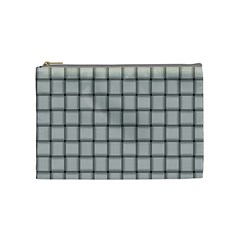 Gray Weave Cosmetic Bag (medium) by BestCustomGiftsForYou