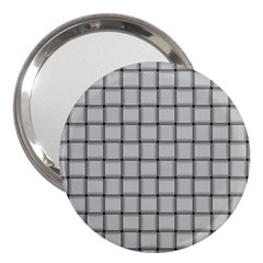 Gray Weave 3  Handbag Mirror by BestCustomGiftsForYou