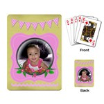 pink cards - Playing Cards Single Design