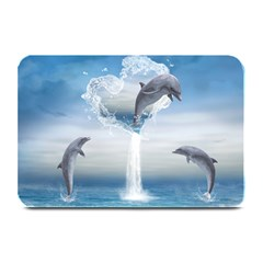 The Heart Of The Dolphins Table Mat by gatterwe