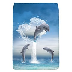 The Heart Of The Dolphins Removable Flap Cover (large) by gatterwe