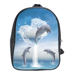 The Heart Of The Dolphins School Bag (xl)