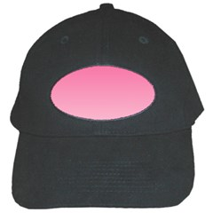 French Rose To Piggy Pink Gradient Black Baseball Cap by BestCustomGiftsForYou