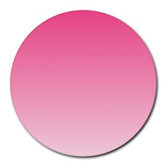 French Rose To Piggy Pink Gradient 8  Mouse Pad (round) by BestCustomGiftsForYou