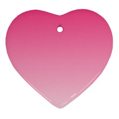 French Rose To Piggy Pink Gradient Heart Ornament by BestCustomGiftsForYou