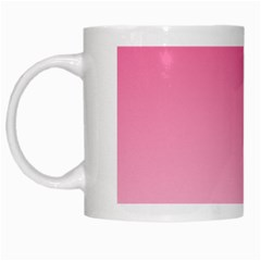 French Rose To Piggy Pink Gradient White Coffee Mug by BestCustomGiftsForYou