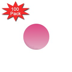 French Rose To Piggy Pink Gradient 1  Mini Button (100 Pack)