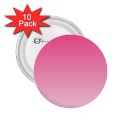 French Rose To Piggy Pink Gradient 2 25  Button (10 Pack)