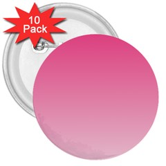 French Rose To Piggy Pink Gradient 3  Button (10 Pack) by BestCustomGiftsForYou