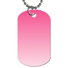 French Rose To Piggy Pink Gradient Dog Tag (one Sided) by BestCustomGiftsForYou
