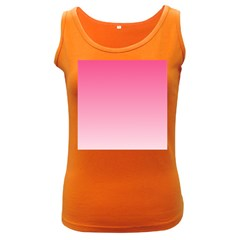 French Rose To Piggy Pink Gradient Womens  Tank Top (dark Colored) by BestCustomGiftsForYou
