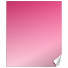 French Rose To Piggy Pink Gradient Canvas 8  X 10  (unframed)