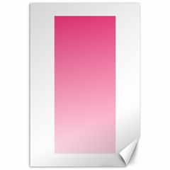 French Rose To Piggy Pink Gradient Canvas 24  X 36  (unframed)