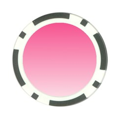 French Rose To Piggy Pink Gradient Poker Chip by BestCustomGiftsForYou