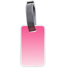 French Rose To Piggy Pink Gradient Luggage Tag (two Sides)