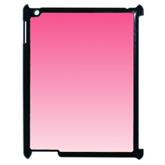 French Rose To Piggy Pink Gradient Apple Ipad 2 Case (black) by BestCustomGiftsForYou