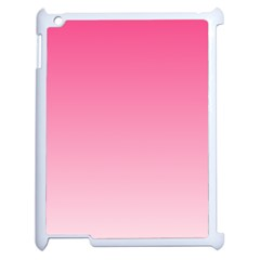 French Rose To Piggy Pink Gradient Apple Ipad 2 Case (white) by BestCustomGiftsForYou