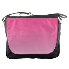 French Rose To Piggy Pink Gradient Messenger Bag by BestCustomGiftsForYou