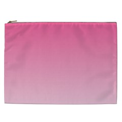 French Rose To Piggy Pink Gradient Cosmetic Bag (xxl)