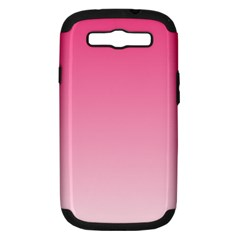 French Rose To Piggy Pink Gradient Samsung Galaxy S Iii Hardshell Case (pc+silicone)