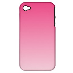 French Rose To Piggy Pink Gradient Apple Iphone 4/4s Hardshell Case (pc+silicone)