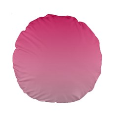French Rose To Piggy Pink Gradient 15  Premium Round Cushion  by BestCustomGiftsForYou