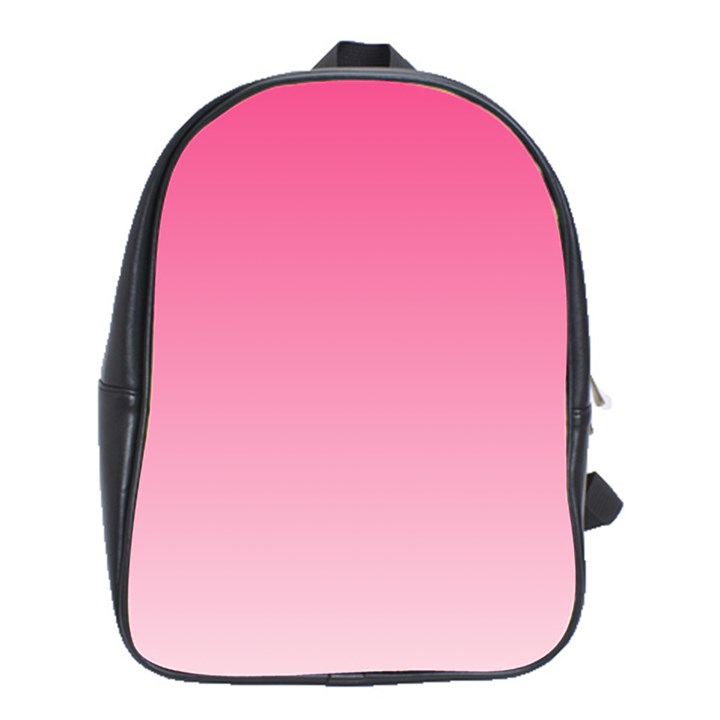 French Rose To Piggy Pink Gradient School Bag (XL)