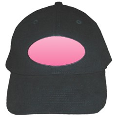 Piggy Pink To French Rose Gradient Black Baseball Cap by BestCustomGiftsForYou