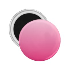 Piggy Pink To French Rose Gradient 2 25  Button Magnet by BestCustomGiftsForYou