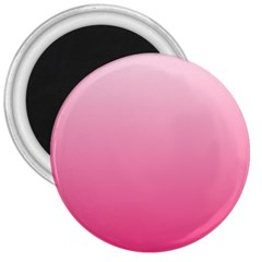 Piggy Pink To French Rose Gradient 3  Button Magnet by BestCustomGiftsForYou