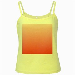 Piggy Pink To French Rose Gradient Yellow Spaghetti Tank