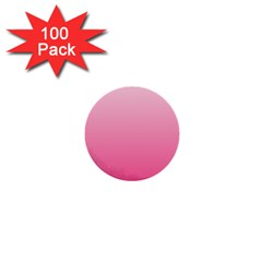 Piggy Pink To French Rose Gradient 1  Mini Button (100 Pack) by BestCustomGiftsForYou