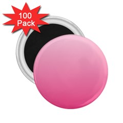 Piggy Pink To French Rose Gradient 2 25  Button Magnet (100 Pack)