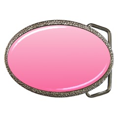 Piggy Pink To French Rose Gradient Belt Buckle (oval) by BestCustomGiftsForYou