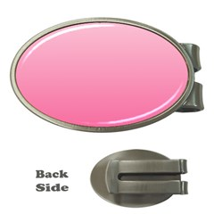 Piggy Pink To French Rose Gradient Money Clip (oval)
