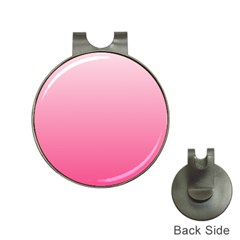 Piggy Pink To French Rose Gradient Hat Clip With Golf Ball Marker by BestCustomGiftsForYou