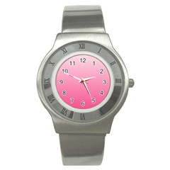 Piggy Pink To French Rose Gradient Stainless Steel Watch (unisex)