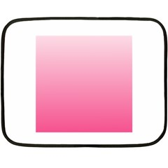 Piggy Pink To French Rose Gradient Mini Fleece Blanket (two Sided)