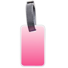 Piggy Pink To French Rose Gradient Luggage Tag (one Side) by BestCustomGiftsForYou