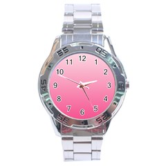 Piggy Pink To French Rose Gradient Stainless Steel Watch (men s) by BestCustomGiftsForYou